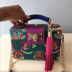 Aldo multi colored box purse